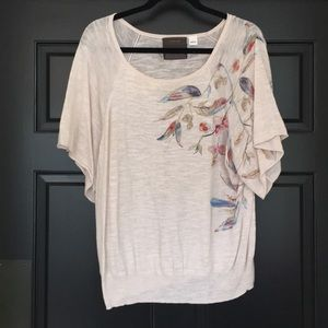 Anthropologie Top. Cream.
